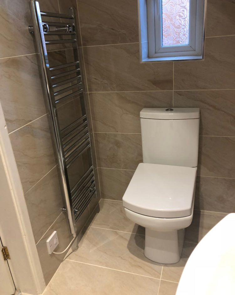 Bathroom installation in Bury