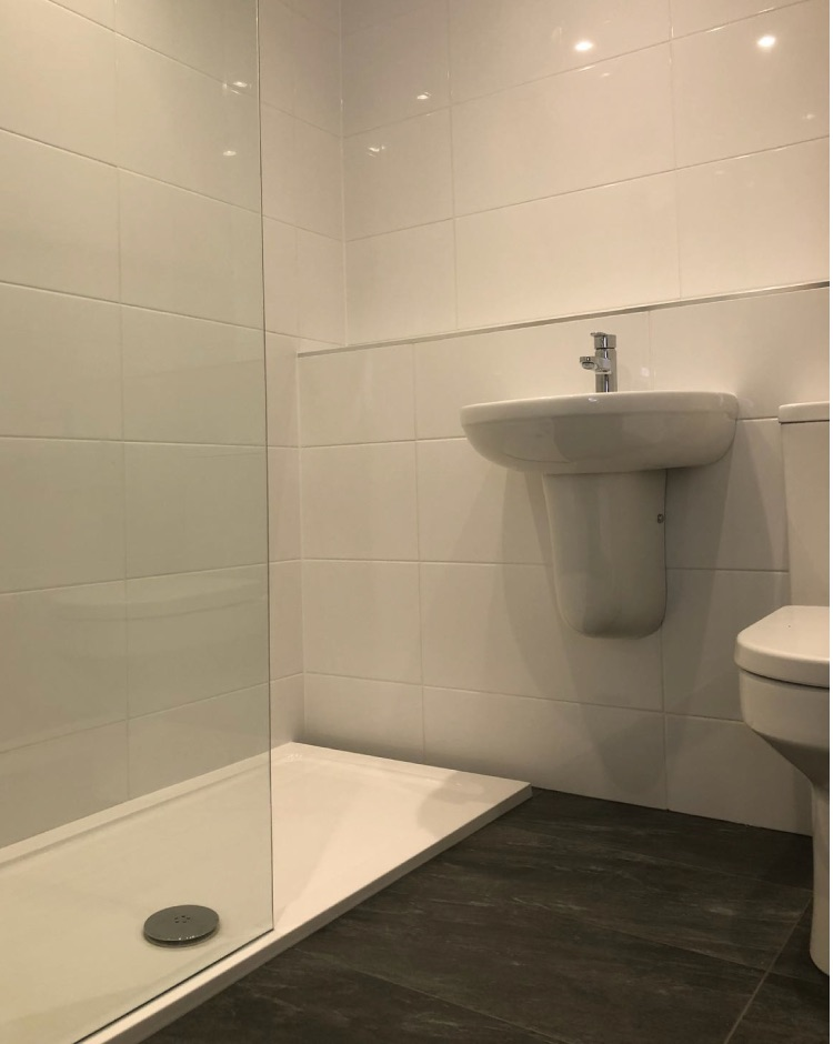Walk in shower installation in Rochdale